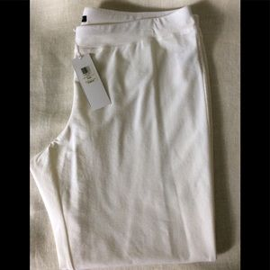 Eileen Fisher white dressy pants.